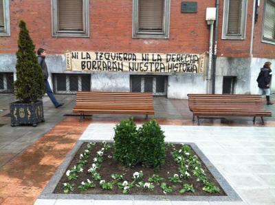 El PP desmantela el monumento a Teijeiro